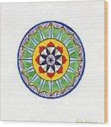 Leaf Mandala Wood Print