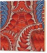Leaf Pattern In Red Wood Print