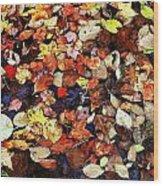 Leaf Patterns 3 Wood Print