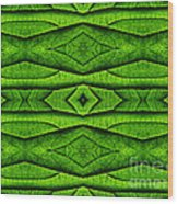 Leaf Structure Abstract Wood Print