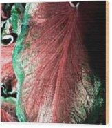 Leafy Contrast Wood Print