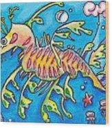 Leafy Sea Dragon Wood Print by Tamara Blyth