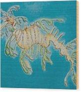 Leafy Sea Dragon Wood Print by Yabette Swank