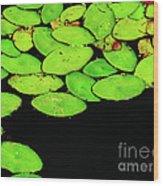 Leafy Swamp Wood Print