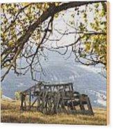 Lean To - Mormon Row - Grand Tetons Wood Print