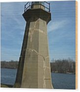 Leaning Lighthouse Wood Print