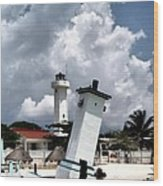 Leaning Lighthouse Of Mexico Wood Print