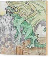 Leaping Dragon Wood Print