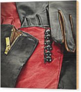 Leather Gloves Wood Print