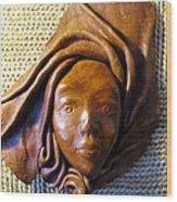 Leather Lady Wood Print
