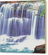 Leatherwood Falls Wood Print
