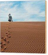 Leave Only Footprints Behind.. Wood Print