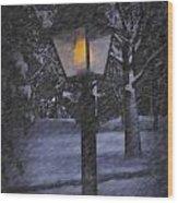 Leave The Light On Wood Print