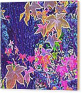 Leaves 1 Wood Print