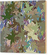 Leaves And Grass Abstract Wood Print