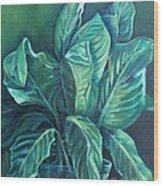 Leaves In A Vase Wood Print by Ellen Howell