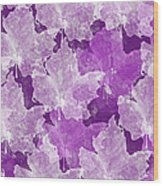 Leaves In Radiant Orchid Wood Print