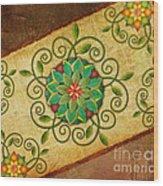Leaves Rosette 1 Wood Print