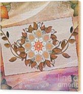 Leaves Rosette 2 Wood Print by Bedros Awak