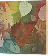 Leaves Vl Wood Print