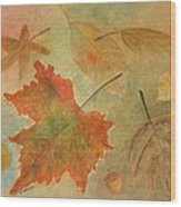 Leaves Vll Wood Print