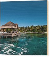 Leaving Kuramathi Resort. Maldives Wood Print by Jenny Rainbow