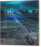 Leaving Long Beach Wood Print