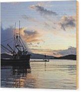 Leaving Safe Harbor Wood Print