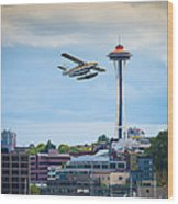 Leaving Seattle Wood Print