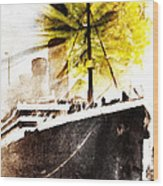 Leaving Ship Wood Print