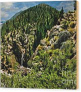 Leavitt Falls From Afar Wood Print