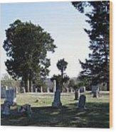 Lebanon Cemetery Oklahoma Wood Print