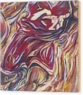 Lebron Guess Who Series Wood Print by Redlime Art