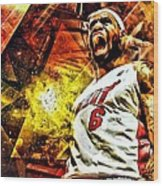 Lebron James Art Poster Wood Print by Florian Rodarte