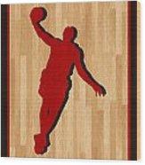 Lebron James Miami Heat Wood Print