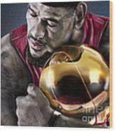Lebron James - My Way Wood Print