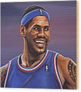 Lebron James  Wood Print by Paul Meijering