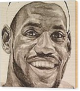 Lebron James Wood Print by Tamir Barkan