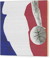 Lebron Nba Logo Wood Print by Tamir Barkan