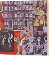 Led Zeppelin  Collage Number Two Wood Print
