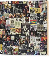 Led Zeppelin Collage Wood Print