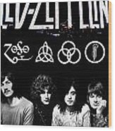 Led Zeppelin Wood Print by FHT Designs
