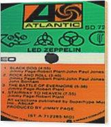 Led Zeppelin Iv Side 1 Wood Print