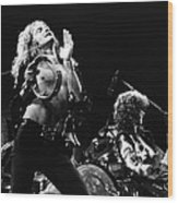 Led Zeppelin Live 1975 Wood Print