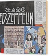 Led Zeppelin Past Times Wood Print