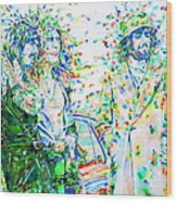 Led Zeppelin - Watercolor Portrait.2 Wood Print