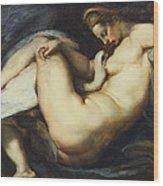 Leda And The Swan Wood Print by Rubens