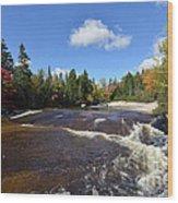 Ledge Falls Maine Wood Print