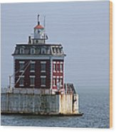 Ledge Light - Connecticut's House In The River  Wood Print