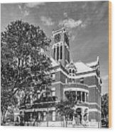 Lee County Courthouse In Giddings Texas Wood Print